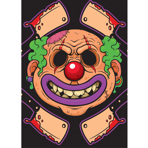 Clown with Bloody Cleavers Halloween A3 Poster PVC Party Sign Decoration 42cm x 30cm Product Gallery Image
