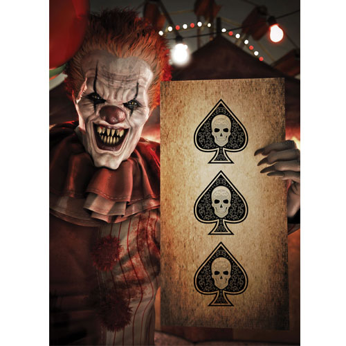 Halloween Clown with Spades A3 Poster PVC Party Sign Decoration 42cm x 30cm Product Gallery Image