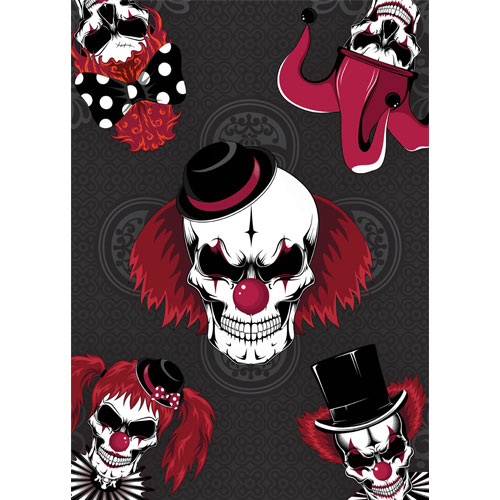 Clowns Skulls Halloween A3 Poster PVC Party Sign Decoration 42cm x 30cm Product Gallery Image