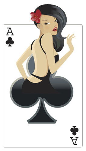 Clubs Babe Casino Cardboard Cutout - 160cm Product Image