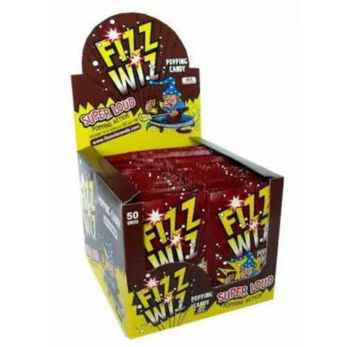 Cola Flavour Fizz Wiz Sweet Popping Candy - Pack of 50