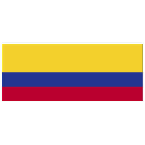 Colombia Flag PVC Party Sign Decoration 60cm x 24cm