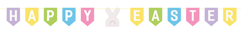 Colourful Happy Easter Cardboard Banner 213cm Product Image