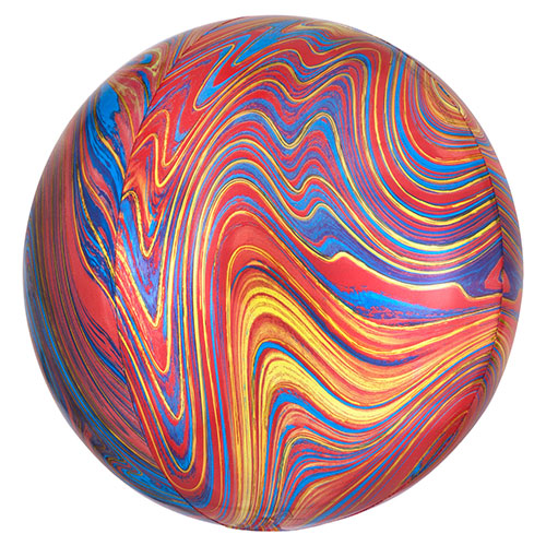 Colourful Marblez Orbz Foil Helium Balloon 38cm / 15 in Product Image