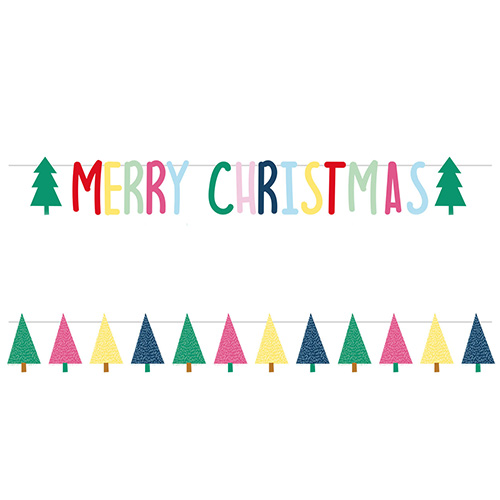 Colourful Merry Christmas Letter Banner Kit Product Image