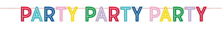 Colourful Party Paper Letter Banner 213cm Product Image