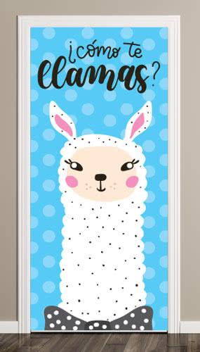Como Te Llamas Door Cover PVC Party Sign Decoration 66cm x 152cm Product Image