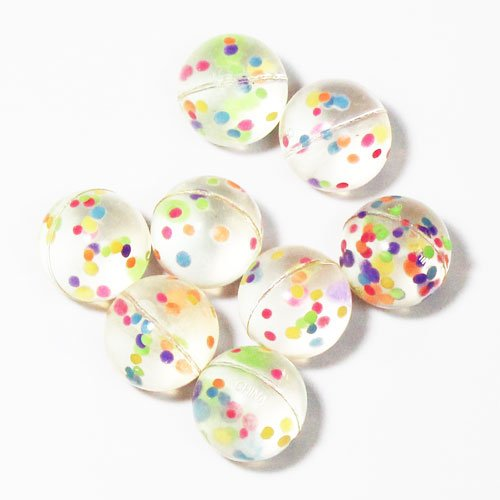 Confetti Filled Party Bounce Balls - Pack of 8 Product Image