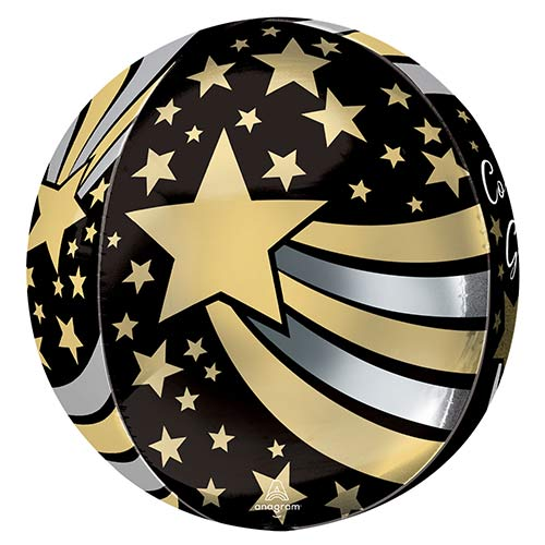 Congrats Grad Shooting Stars Orbz Foil Helium Balloon 38cm / 15 in Product Gallery Image