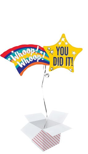 Congrats Shooting Star Helium Foil Giant Balloon - Inflated Balloon in a Box Product Image