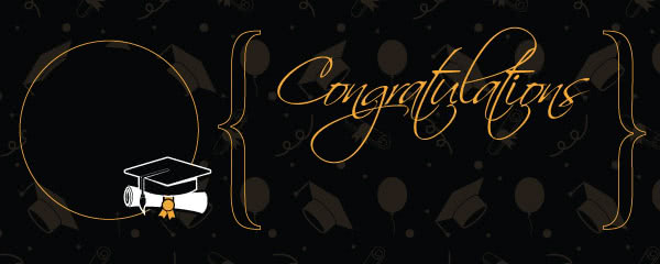 Congratulations Graduation Gold Braces Design Large Personalised Banner - 10ft x 4ft