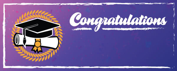 Congratulations Graduation Laurel Wreath Design Small Personalised Banner - 4ft x 2ft