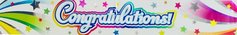 Congratulations Swirl Foil Banner 270cm