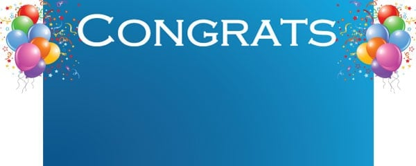 Congratulations Lets Celebrate Design Small Personalised Banner- 4ft x 2ft