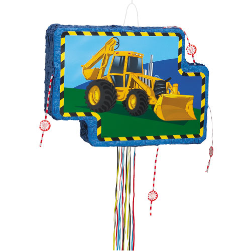 Construction Vehicle Pull String Pinata