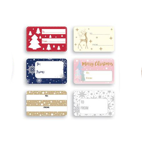 Contemporary Christmas Self Adhesive Gift Labels - Pack of 150 Product Image
