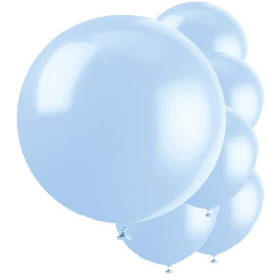 Cool Blue Jumbo Biodegradable Latex Balloons - 91cm - Pack of 6 Product Image