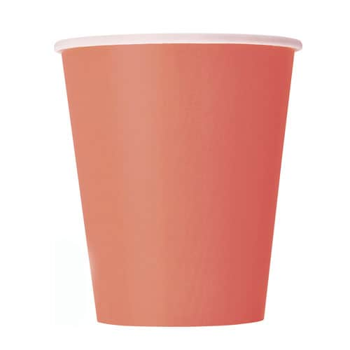 Coral Paper Cups 270ml - Pack of 14 Bundle Product Image
