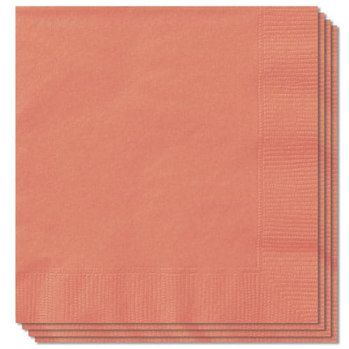 Coral Luncheon Napkins 33cm 2Ply Pack of 100