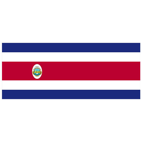 Costa Rica Flag PVC Party Sign Decoration 60cm x 24cm Product Image