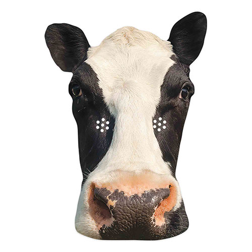 Cow Cardboard Face Mask
