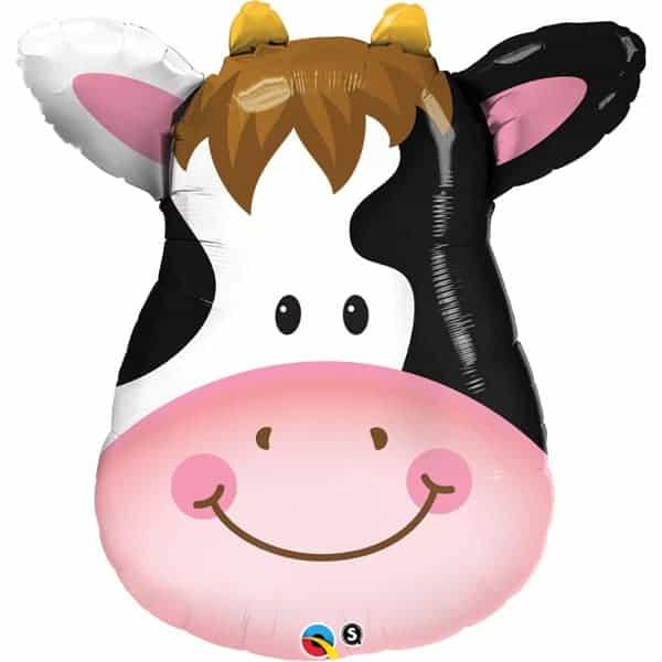 Cow Face Farm Animals Helium Foil Giant Qualatex Balloon 81cm / 32 in