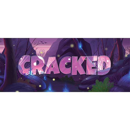 Cracked Forest Background PVC Party Sign Decoration 60cm x 25cm Product Image
