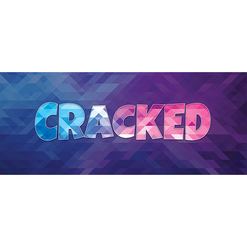 Cracked Home Screen Background PVC Party Sign Decoration 60cm x 25cm Product Image