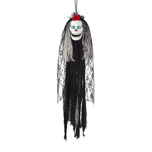 Crazy Catrina Skull Halloween Animated Prop Hanging Decoration 80cm