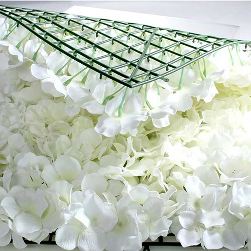 Cream Artificial Hydrangea Silk Flower Wall Panel 60cm x 40cm Product Gallery Image