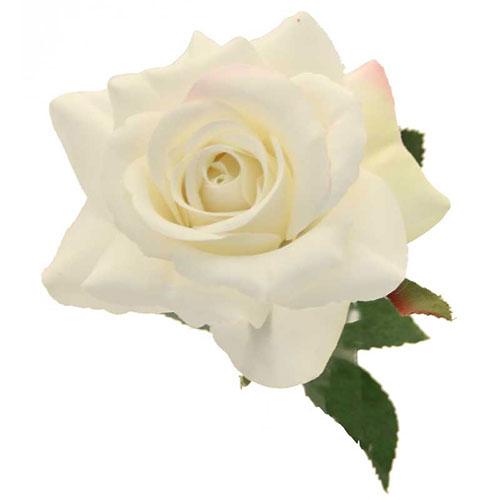Cream Richmond Rose Artificial Silk Flower 42cm Product Gallery Image