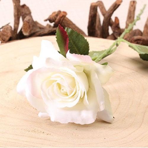 Cream Richmond Rose Artificial Silk Flower 42cm