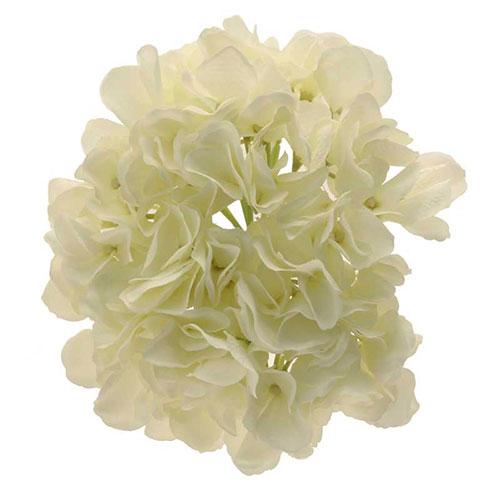 Cream Short Stem Hydrangea Artificial Silk Flower 51cm Product Gallery Image