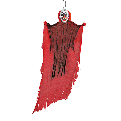 Creepy Red Clown Halloween Hanging Prop Decoration 120cm Product Image