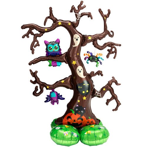 Creepy Tree Halloween Airloonz Air Fill Giant Foil Balloon 157cm / 62 in Product Image