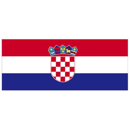 Croatia Flag PVC Party Sign Decoration 60cm x 24cm