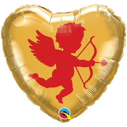 Cupid Valentine's Day Foil Helium Qualatex Balloon 46cm / 18 in Product Gallery Image