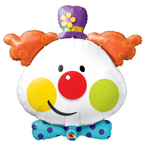 Cute Clown Helium Foil Giant Qualatex Balloon 91cm / 36 in Product Image