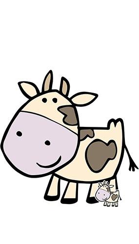 Cute Cow Farmyard Animal Lifesize Cardboard Cutout 103cm