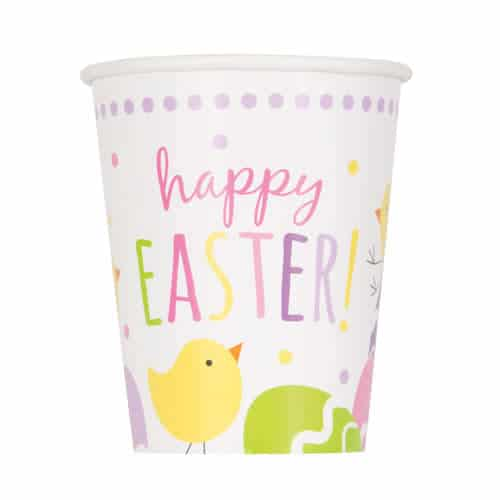 Cute Easter Paper Cups 270ml - Pack of 8