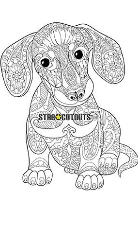 Cute Puppy Design Colour Craft Star Mini Cardboard Cutout 92cm Product Image