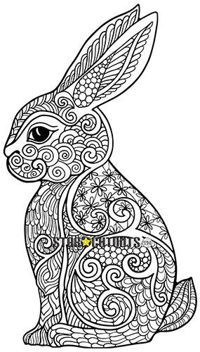 Cute Rabbit Design Colour Craft Star Mini Cardboard Cutout 94cm