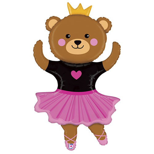 Dance Bear Helium Foil Giant Balloon 122cm / 48 in Product Image