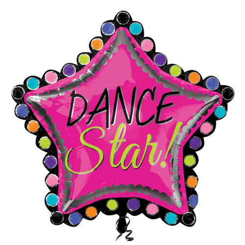 Dance Star 2 Sided Helium Foil Giant Balloon 76cm / 30 in Product Image