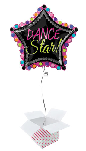 Dance Star 2 Sided Helium Foil Giant Balloon - Inflated Balloon in a Box Product Gallery Image