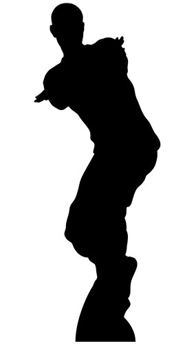 Dancing Gamer Silhouette Lifesize Cardboard Cutout 172cm