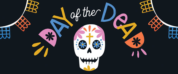 Day of the Dead Bunting Halloween PVC Party Sign Decoration 60cm x 25cm Product Image