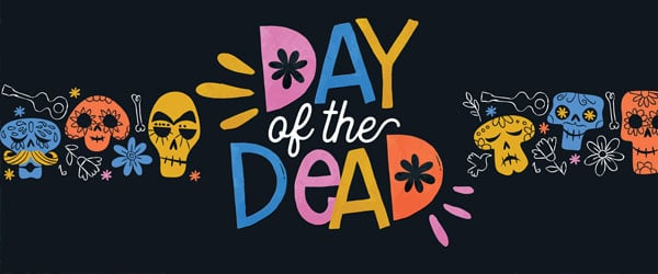 Day of the Dead Funny Icons Halloween PVC Party Sign Decoration 60cm x 25cm Product Image