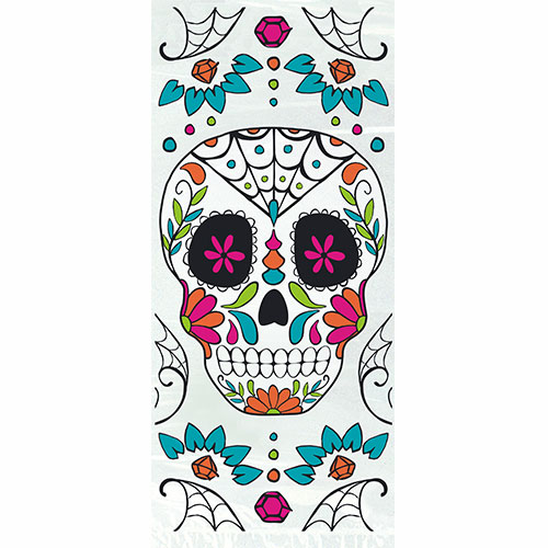 Day Of The Dead Halloween Cello Bags With Twist Ties - Pack of 20