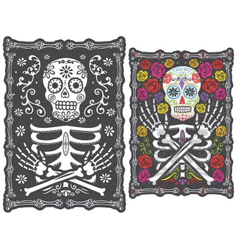 Day Of The Dead Halloween Lenticular Portrait Wall Hanging Decoration 42cm Product Image